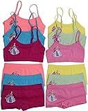 ToBeInStyle - Juego de 6 bragas de espagueti para entrenamiento y pantalones cortos para niña, Castillos Princesa, Small (Ages: 4-6)