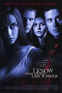 I Know What You Did Last Summer Poster Movie 11x17 Jennifer Love Hewitt Sarah Michelle Gellar