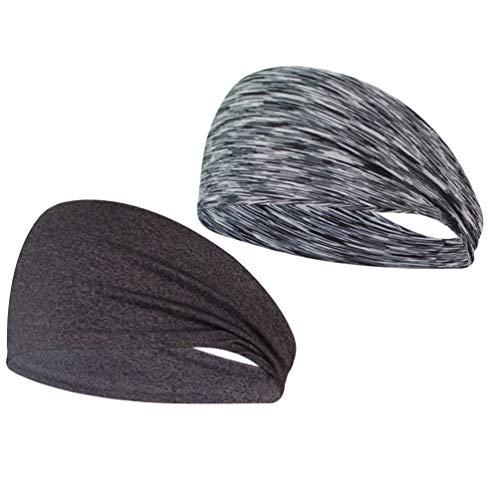 BESPORTBLE Packung mit 2 Sportstirnbändern Schweißabsorption Yoga Kopfbedeckungen Sportkopfbedeckungen zum Laufen Yoga Radfahren