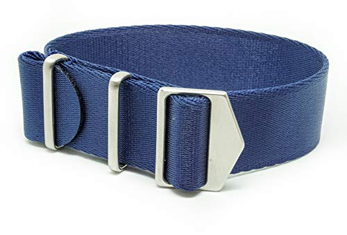 SPRING MADE Premium 20mm NATO Strap Watch Band. Nylon Watch Strap with Micro-Adjustment. (20MM, Caspian)