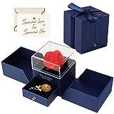Minterest Rosa Eterna Azul,Rosa Bella y Bestia con Tarjeta,Regalos para San Valentin,Regalos San Valentin para Mujer
