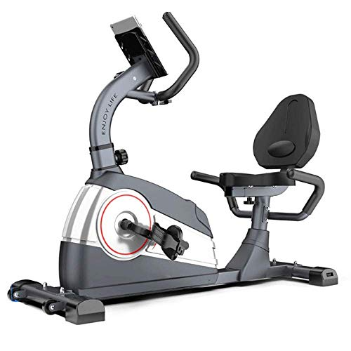 Fitness Anytime Bicicleta estática reclinada Inicio Control magnético Bicicleta giratoria Bicicleta Interior Bicicleta estática Bicicleta estática Bicicleta estática práctica (Color: Gris, Tamaño: 1