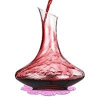 boqo decanter per vino,caraffa per vino,vetro soffiato a mano senza piombo,accessori per vino da 1800 ml