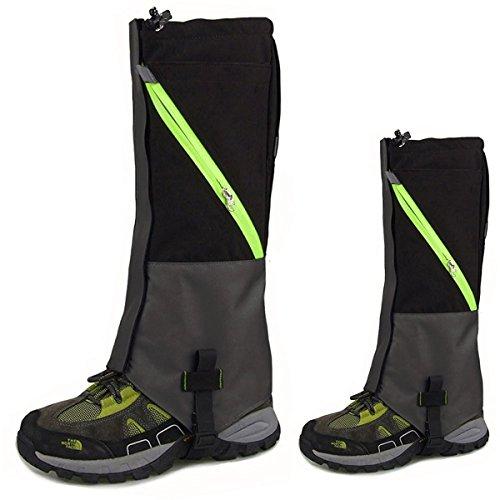 KepooMan 1 Paar Unisex wasserdicht Atmungsaktiv Bein Gamaschen Leggings Wrap für Skifahren Snowboarden Wandern Klettern (schwarz)