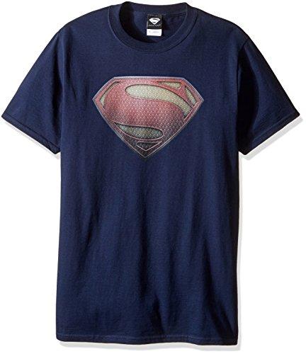 DC Comics Superman hombre de acero Logo camiseta - Azul -