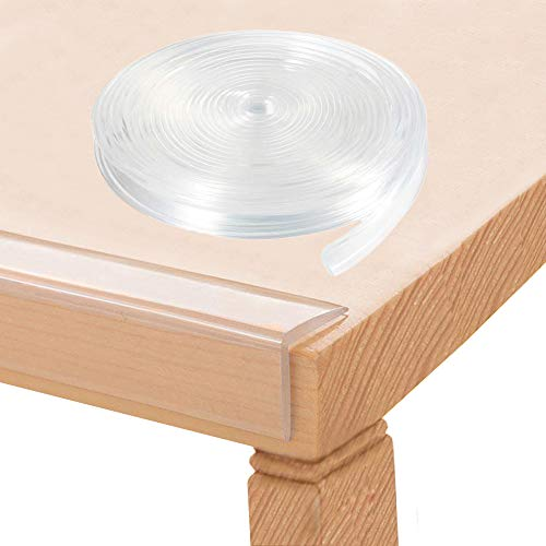 Tables Corner Guards Baby Child Safety, 20ft(6m) Soft Silicone Bumper Strip Furniture Clear Toddler Edge Protectors Baby Proofing, Desk Edge Cushion