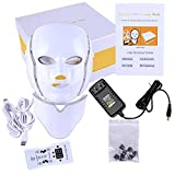 Ofanyia 7 Colors LED Face Mask for Facial and Neck Skin Rejuvenation Anti Aging Light Photon Therapy Beauty Led Facial Mask