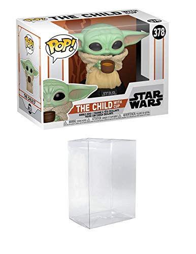 POP! Funko Star Wars The Mandalorian - Baby Yoda The Child with Cup Vinyl Figure