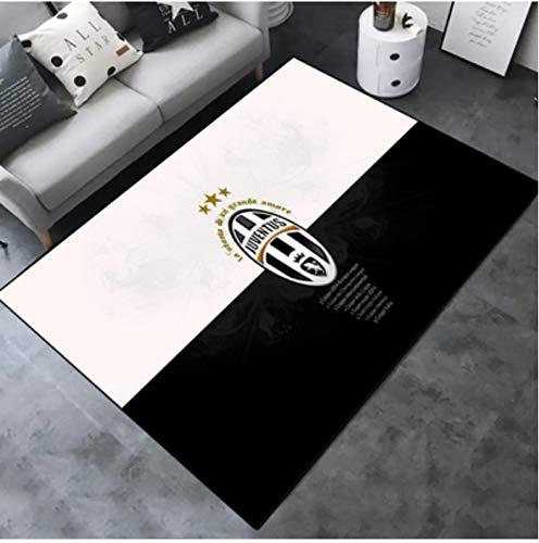 zzqiao Cameretta Antiscivolo Soggiorno Divano Tavolino Camera da Letto Comodino Camera da Letto Tappeto Rettangolare Tappetino personalità Creativa Calcio Juventus Team 80 * 120 Cm