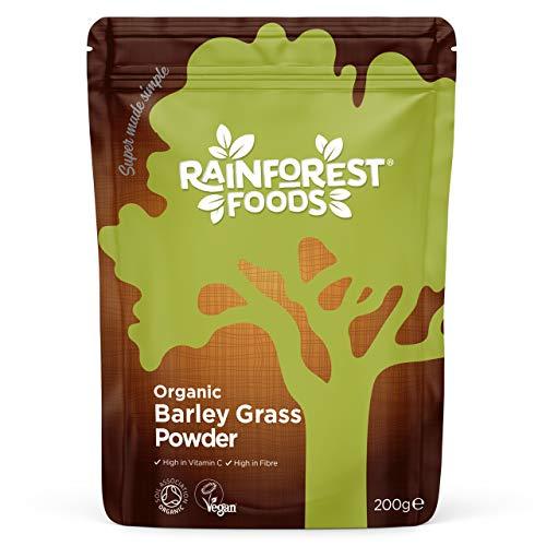 Rainforest Foods Organisches Neuseeland Gerstengras-Pulver, 1er Pack (1 x 200 g) - Bio