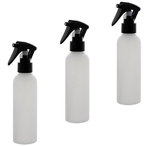 Leere Sprühkopf-Flasche 150ml, Kosmetex Sprühflasche, Plastik, zylindrisch, halbtransparent, 3 x 150ml