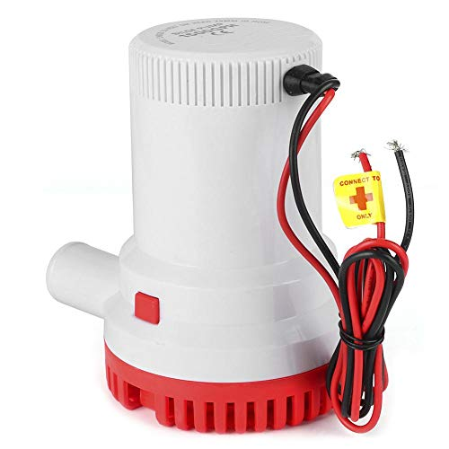 1500GPH 12A 12V / 24V Bomba de achique sumergible eléctrica Mini bomba de sumidero de sentina marina de alto flujo para yate(24V)