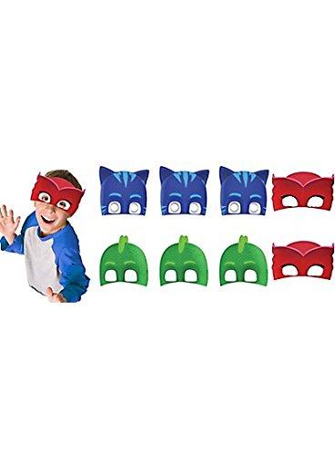 PJ Masks Paper Masks (16 Count) Party Supply for 16 Kids. Kids Love PJ Mas