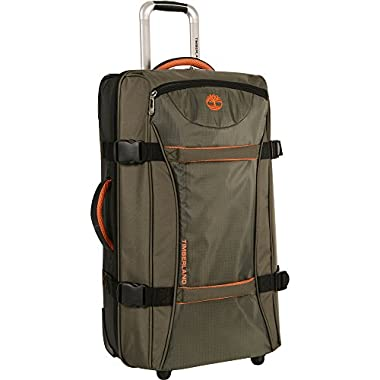 Timberland 30  Wheeled Duffle Luggage Bag, Burnt Olive/Burnt Orange