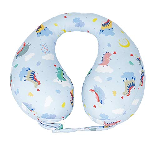 mamapume Infant car seat Head Support Travel Pillow for Kids Toddler Stroller Neck Support Pillows for Airplanes Accessories U Shaped Pillow for 6 Months to 7 Years Old (Dreaming Sky, M)