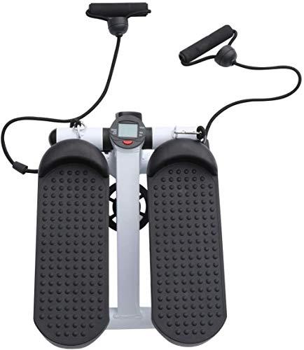 APcjerp Tapis roulant Durevole Mini Multi-Funzione del Pedale casa Cyclette Stepper Fitness con Strap Adatto a Ind Hslywan (Color : Black)