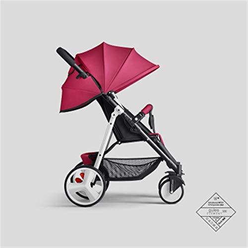 hjj Cochecito de bebé Ultraligero Cochecito Plegable portátil Cochecito de Transporte de Carro recién Nacido Cochecito de Viaje para Dar Regalos mejorados(Color: Rojo) jianyou (Color : Red)