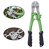 "WilFiks 12"" Bolt Cutter, Heavy Duty Steel Chrome Alloy Jaws, Compound Cutting Action Sniper To Cut Chain Lock, Cable & Wire Mesh, Bi-Material Comfortable Ergonomic Shape Soft Rubber Grip Thick Handle"