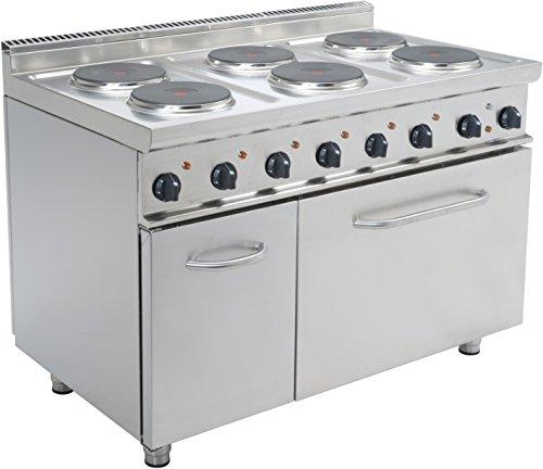 SARO elektrische kookplaat met 6 platen op oven E7/CUET6LE