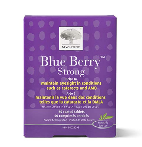 New Nordic Blue Berry Strong, 60 Tablets, Pack of 1