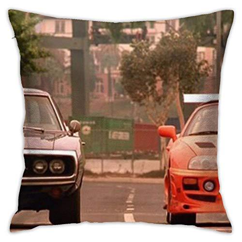 Ascfeagh Fundas de almohadaThe Fast and The Furious Last Race Inicio Arte Decorativo Throw Pillow Funda de cojín Suave 45x45cm