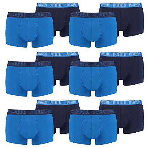 PUMA 12 er Pack Short Boxer Boxershorts Men Pant Unterwäsche kurz 100000884, Farbe:003 - True Blue, Bekleidungsgröße:L