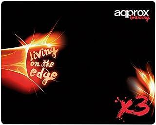 Approx Gaming APPX3 - Alfombrilla Gaming (400x320x3 mm) Color Negro y Rojo