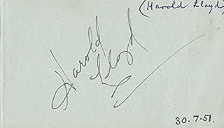 Harold Lloyd - Inscribed Album Leaf Signed co-signed By: Jo Stafford