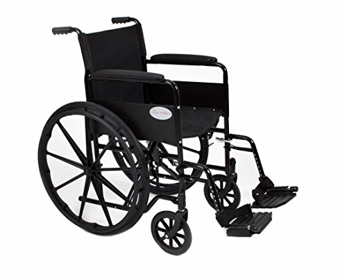 Stylish Black Sport Self - Propelled Lightweight Folding Wheelchair - 18'/20' Seat Width (Fast Delivery!) (AMW0046BF)