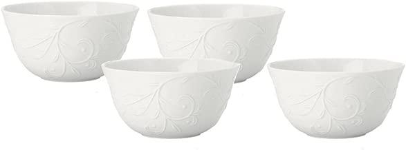 Lenox Opal Innocence Porcelain Carved Fruit Bowl, Set of 4