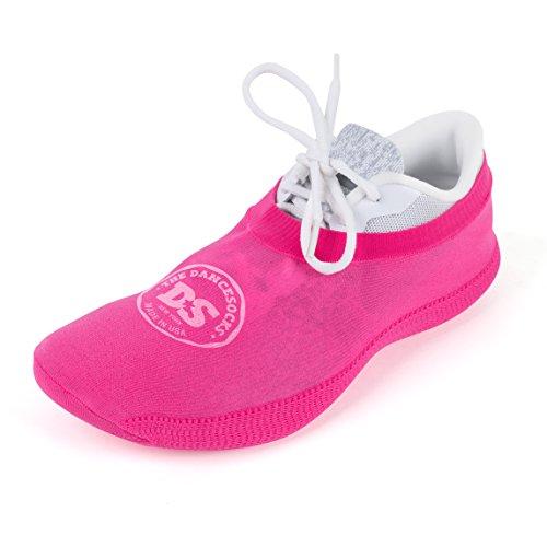 THE DANCESOCKS - 100% USA Made Over Sneaker Dance Socks, Carpet (Pink)