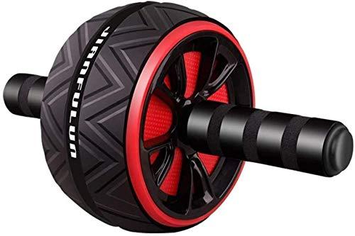 FVE Bauchroller Ab Roller, Bauchtraining Muskelaufbau Bauchmuskeltrainer AB Wheel für Frauen Männer (Schwarz)
