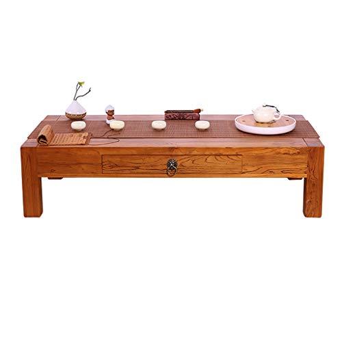 Tables Basse en Bois Salon Basse Basse avec Tiroir Simple Basse Moderne Tatami Basse Baie Vitrée Basses (Color : Brown, Size : 50 * 40 * 30cm)