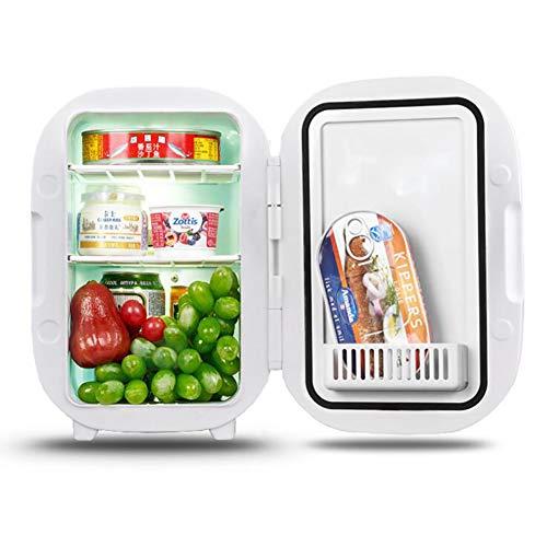 Anjin Mini-koelkast voor auto, 12 V, 6 l, draagbare thermo-elektrische koelbox/verwarmingsbox voor op reis, camping