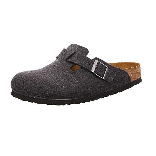 Birkenstock Schuhe Boston Wollfilz Schmal Anthracite (160373) 37 Grau