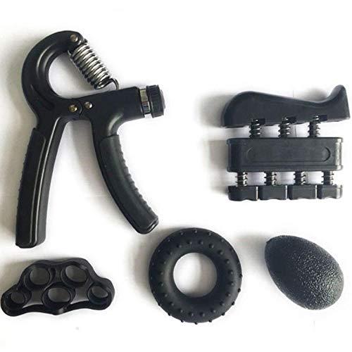 EDK Griffring, hoher elastischer Griffball, Fingerkraft, Training, Fingerkraft, Entspannung, Handmuskulatur, Fitnessprodukte Schwarz