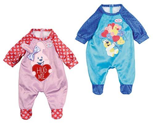 Baby Born 828250 Strampler Farbe nach Vorrat und nicht frei wählbar Kleidung FÜR Puppen, in blau oder rosa, Sortiert, 43cm