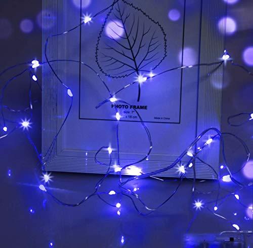 LED Lichterkette,Cshare 3m LED Draht Micro Lichterkette,Micro 30 LEDs Lichterkette AA Batterie betrieb für Party, Garten, Weihnachten, Halloween, Hochzeit, Beleuchtung, Zimmer (Blau)