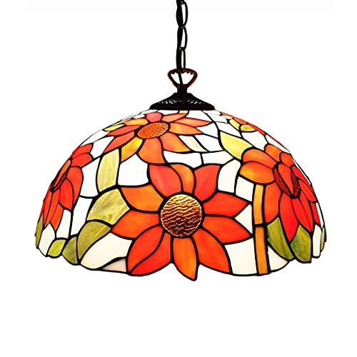 Lampadario a sospensione stile 12 pollici, lampadario da soffitto vintage in vetro multicolore, lampade da cucina con imbracatura, plafoniera da camera da letto, lampadari da caffè nel seminterrato d
