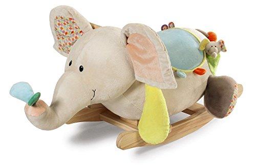 Nici 39721 Schaukelelefant Dundi, für Kinder ab 12 Monate unter Beaufsichtigung von Erwachsenen