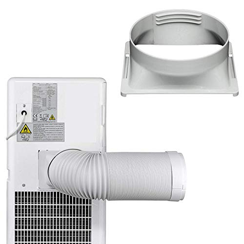 Adaptador de manguera de escape para aire acondicionado, conector de tubo adaptador de ventana de 15cm,tubo de escape,boquilla plana,kit de manguera de escape portátil para aire acondicionado portátil