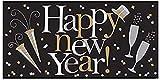 Amscan 120127 - Folienbanner Happy New Year, 165,1 x 85 cm,