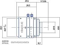 Goyo Optical GMTHR24514MCN 1/2インチ 4.5mm F1.4 手動アイリスCマウントレンズ 3メガピクセル定格