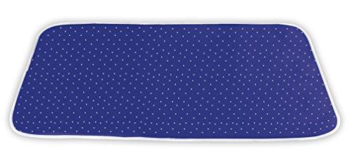 WENKO Nappe de repassage vapeur, Coton, 65 x 100 cm, Bleu foncé