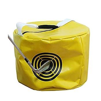 Vukayo Golf Impact Power Smash Bag Hitting Bag Swing Training aids for The Trainers Yellow Color