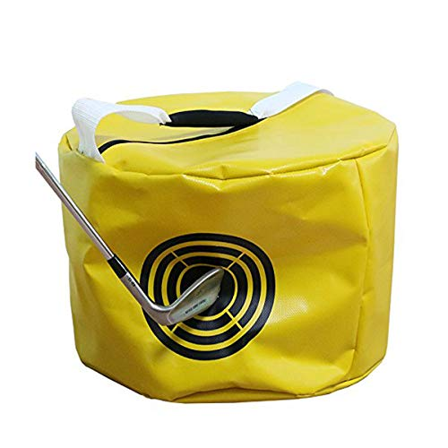 Vukayo Golf Impact Power Smash Bag Hitting Bag Swing Training aids for The Trainers(Yellow Color)