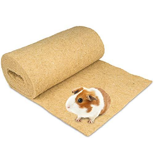 Nagerteppich aus 100% Hanf auf Rolle mit 5m Länge, 60cm Breite, 10mm dick (11,30 Euro / m2) Hanfteppich für alle Arten Kleintiere, Hanfmatte Nagermatte Nager-Teppich Einstreu-Ersatz
