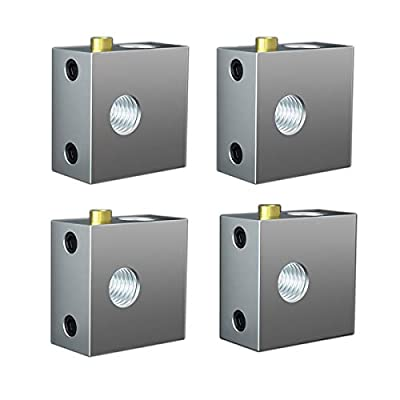 4 Pcs New Style Heater Block,Extruder Hotend Nozzle Throat Heater Block,Aluminum Alloy Heater Block Specialized for MK7 MK8 Makerbot Reprap 3D Printer Extruder Kit