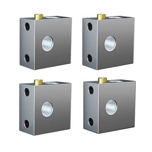 4 Stück Aluminium Heizung Block 3D Drucker Heizblock für MK7 MK8 Extruder 3D Drucker Heißes Ende, Wärmeblock,Heizblock,Aluminium-Heizblock,3D Printe Zubehör