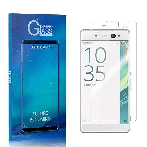 Screen Protector Compatible with Sony Xperia XA Ultra, The Grafu 9H Ultra Clear Tempered Glass Screen Protector for Sony Xperia XA Ultra, Drop Fall Protection, 1 Pack
